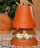 ▀ Teelichtofen ▀ für bis zu 5 Teelichter Teelichtheizung Teelichtkamin bemalbar Kerzenofen Tischkamin Mückenschutz Garten Terrasse bekannt aus Stern TV Duft Kerzen Heizung Wohnzimmer Ofen 23