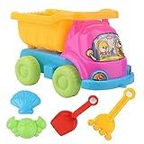 Muium(TM) Sandspielzeug Set, Strandspielzeug Kinder, Strand Spielzeug Sand Set, Kipper, Eimer, Sandform, Schaufel, Rechen, Ummer Outdoor-Spielzeug Spielzeuglastwagen, Sandkasten-Spielzeug