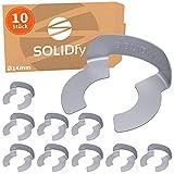 SOLIDfy® - [10x] KL-Sicherungen Ø 14mm Wellensicherung für Wellen und Bolzen verzinkte KL Sicherung