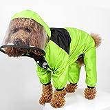 DEES Hunde-Regenmantel für Hunde, mit Gesicht, wasserdicht, Größe XXXXL, Grün