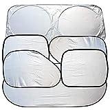 QiKun-Home CATUO New Car Window Sonnenschutz Auto Windschutzscheibe Visierabdeckung Block Frontscheibe Sunshade UV Protect Autofensterfolie 6 Stück/Set Silber