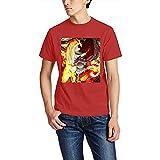 AIAO Fairy Tail Herren T-Shirt mit kurzen Ärmeln, Weiß, rot, L