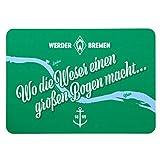 Werder Bremen SV Frühstücksbrettchen Brettchen **Wo die Weser ** 21-33222