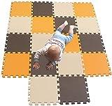 A-Generic Babyplatten Kinderspiele Spielzeugschaumpuzzle Sohle Soupletapis Nichttoxisch orange-braun-beige 102106110