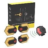 XWYWP Fahrradlichter-Set, 1 Set Fahrrad-Blinker, Vorderlicht und Rücklicht, intelligente, kabellose Fernbedienung, Fahrrad-Rücklicht, Sicherheitswarnung, LED-Rücklicht