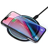 ELEGIANT Fast Wireless Charger 15W Kabellos Ladegerät Ladepad Schnellladestation für Samsung Galaxy S20+ /S20 Ultra /S9 /S8 /S8 Plus /S7 iPhone 12 SE 11 XR 8 Huawei Mate 20pro P30pro AirPods p