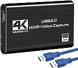 Rybozen Game Capture Karte USB 3.0 Video Capture Card HD 1080P HDMI Videoaufnahme mit Live- Übertragungen Recorder Gerät Streaming Capture Card für Windows Linux OS X System