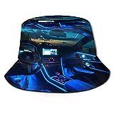 GOSMAO Unisex Auto Interior Dashboard Muster Eimer Hut Fischerhut Outdoor Sonnenhut Schwarz