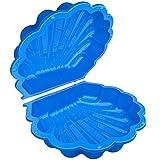TikTakToo Sand & und Wassermuschel I Sandkasten mit Abdeckung (2-teilig) I (blau)