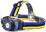 HXJZJ Stirnlampen Eingebaute wiederaufladbare Batterie Q5 2000 Lumen Led Bright Headlamp Scheinwerfer LED Scheinwerfer Scheinwerfer Zoombar
