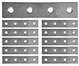 Flache Reparatur-Verbindungsplatte, verzinkt, robust, für Metall/Stahlblech, Größe: 80 mm x 17 mm x 2 mm, 10 Stück