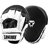 LangRay Handpratzen Kampfsport Boxen, 1 Paar Boxpratzen aus Kunstleder Kickboxen Pratzen für Kinder und Erwachsene MMA Muay Thai Karate