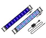 BELLALICHT Aquarium LED Beleuchtung mit verstellbarer Halterung, Timer, dimmbare Aquariumbeleuchtung Weiß Blau Rot Grü