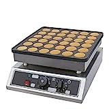 36 Gitter Waffelmaschine Antihaft Elektro Edelstahl Waffelgerät Commercial Mini Pancake Machine Maker
