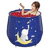 Badewannen Tragbare Erwachsene Und Kinder Innenbadewanne Mit Konstanter Temperatur Faltbare Freistehende, (Color : Blue, Size : 70 * 65cm)