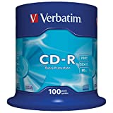 Verbatim CD-R Extra Protection 700 MB I 100er Pack Spindel I Oberfläche weiß I CD Rohlinge I 52x Brenngeschwindigkeit mit langer Lebensdauer & Extraschutz I leere CDs I Audio CD Rohling