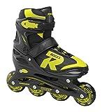 Roces Jungen Jokey 2.0 Boy Inline-Skates, Black-Lime, 34-37