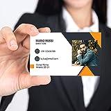 Visitenkarte mit Foto, 100 Stück, personalisierbar auf Karton, Druck in Farbe nur vorne (D)