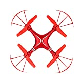 GYZLZZB RC-Drohnen mit Kamera für Erwachsene HD 4K, Luftdruck Feste Höhe Quadcopter, Intelligente Federendrohne, 8 Minuten Flugzeit, Eintasten- / Landung/Notaufnahme/Rückkehr (Color : Rot)