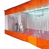 ERLAN Abdeckplane Plane Außenterrasse Pavillon Seitenwände Zelt, Vinyl Trennvorhang mit Ösen, wasserdichte Planen für Die Werkstatt Carport - Orange (Color : W×h, Size : 1×1m/3.3×3.3ft)