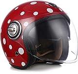 "SOXON® SP-888 ""Bubble"" · Jet-Helm · Motorrad-Helm Roller-Helm Scooter-Helm Moped Mofa-Helm Chopper Retro Vespa Vintage Pilot · ECE 22.05 Sonnenvisier Schnellverschluss SlimShell Tasche M (57-58cm)"