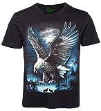 Tiermotiv T-Shirt Adler in den Bergen Größe XL
