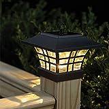 SFRIDQ LED-Solar-Säule Lampe im Freien Wasserdichten Säule Garten Energiesäule Lampen Landschaft Hof-Licht-warmes Weiß