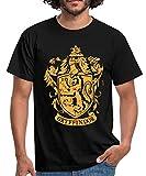 Harry Potter Gryffindor Wappen Logo Männer T-Shirt, M, Schwarz