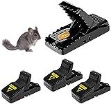 AVASAGS 4 Stück Mausefalle,professionelle Mausefallen Schlagfalle Mäusefalle Wiederverwendbar Effektive Ökologisch und wiederverwendbar in Haus und Garten (4)