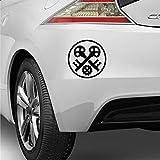 myrockshirt Zunftzeichen Handwerker Schlosser 20cm Aufkleber Autoaufkleber Sticker Decal UV&Waschanlagenfest Profi Qualität
