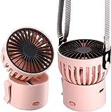 XY Tragbarer Mini-Ventilator, USB-wiederaufladbar, batteriebetrieben, Handventilator, 3 Geschwindigkeiten, Mehrzweck-Fans für Mädchen und Frauen, aufmerksames Geschenk, Outdoor, Reisen, Büro