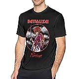 Herren Anime Rurouni Kenshin Kurzarm T-Shirt 3D-Druck Erwachsenen T-Shirt