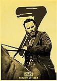 linbindeshoop Vintage The Walking Dead Staffel 7 Retro Poster Retro Bar Cafe Wohnkultur Malerei Wandaufkleber (LW-3322) 40x60cm Kein Rahmen
