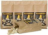 RaiffeisenWaren Kaminanzünder, Feueranzünder, Feuerbällchen (Anzünder ökologisch, aus Naturprodukten - Wachs, Naturholz; Nässe unempfindlich; Brenndauer ca. 10 min) 12,5 kg