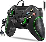 Wired Controller für Xbox One, Covanm Xbox One Controller mit 3,5 mm Headset Audio Jack, Xbox Controller One Gamepads Joysticks für Xbox One / One S / One X / PS3 und PC (Schwarz)