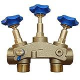 Montageblock 1' mit Prüfventil für die Installation von Wasserenthärtungsanlagen