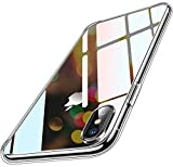 Humixx iPhone XS Hülle, iPhone X Hülle, Transparent & Anti-Gelb Upgraded 9H Glas Rückseite mit TPU Rahmen Hülle iPhone X/XS Handyhülle Stoßfest Anti-Kratzer Schutzhülle für iPhone X/XS (5.8 inch)
