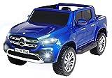 Actionbikes Motors Kinder Elektroauto Mercedes Benz X-Klasse - Lizenziert - 4 x 45 Watt Motor - Multimedia-Touchscreen - Kinderauto (Blau Lackiert)