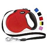 DDOXX Roll-Leine reflektierend, ausziehbar | viele Farben & Größen | für kleine & große Hunde | Gurt-Leine Hundeleine einziehbar Welpe Katze | Hundeleinen Zubehör Hund | M, 5 m, bis 20 kg, R