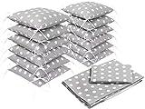 Amilian® Baby Bettwäsche Design II: Pünktchen grau Nestchen Bettset 100x135 für Babybett Decke Kissen Bettumrandung