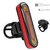 Fahrradlicht Fahrrad Blinker Rücklicht Wasserdicht USB Fahrradlicht Sicherheitsleuchte Hinten Fahrradzubehör mit Fernbedienung