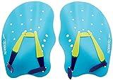 Speedo Unisex-Erwachsene Biofuse Technik Handpaddel, Türkis/Limetten-Grün/Ultramarin-Blau, M