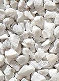 Ziersplitt Carrara Splitt 20 kg 9-12 mm Sack Gabionenfüllung Splitt Deko Garten Wegegestein