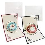 3D Grußkarten-Romantik Faltkarte, Grußkarte Valentinstag Karte, Romantische Liebeskarte zu Weihnachten