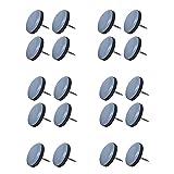 Cyleibe stuhlgleiter Teflon Mit Nagel,20 stuck Möbelgleiter rund Stuhlgleiter Robuste Teflongleiter für Geflieste, Hartholz Böden Stühle und Sessel