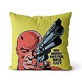 Premium Kissen Daredevil Hochwertig Soft Kopfkissen Superhero Movie Kinderkissen Home Decorative Solid Square Pillow 45x45cm, Mit Füllstoff