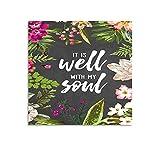 Trelemek It Is Well-with-my-soul Leinwandbild, 40 x 40 cm, Wanddekoration für Schlafzimmer, Wohnzimmer, Küche, Esszimmer, Zuhause, Büro, Flur und Treppendekoration