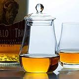 Whiskey Karaffe Internationaler Standard Schottland Whiskyglas mit Deckel Reisen Tragbare Nosing Rocks Gläser Whisky Tumbler Weinbecher (Color : B)