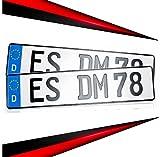 KFZ Schilder Direkt 2 Kennzeichen 520 x 110mm   Nummernschild   Autokennzeichen   mit Wunschprägung