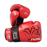 Rival RB1 Ultra Bag Handschuhe 2.0, rote Pads, Boxhandschuhe, Trainingstasche, Pad-Handschuhe (groß)